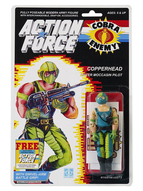 Action Force / GI Joe Copperhead Water Moccasin Pilot MOC Custom Sticker Offer