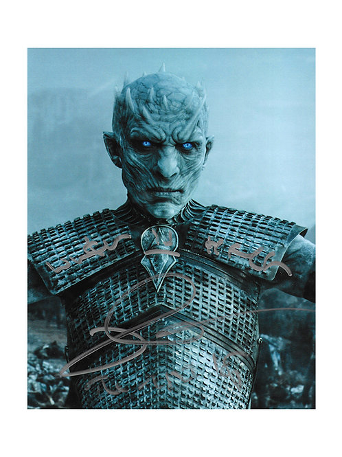 8x10 Game Of Thrones Night King Print Signed by Richard Brake