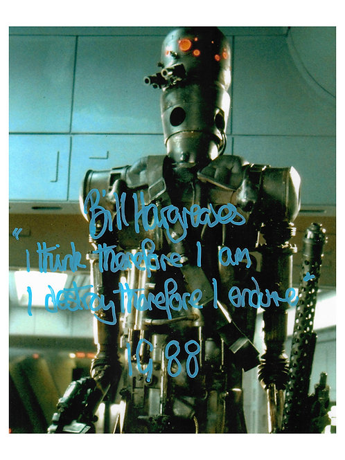 8x10 Star Wars IG-88 Print Signed by Bill Hargreaves
