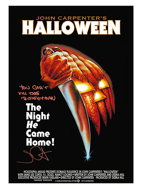 A2 Halloween Poster Signed by John Carpenter With Quote