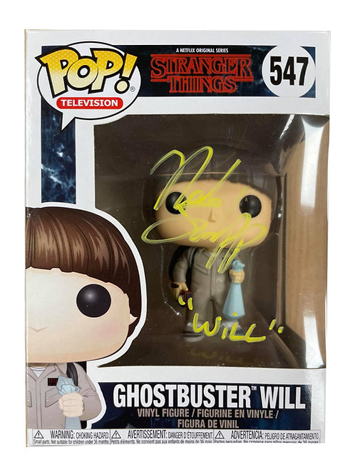 Ghostbusters Will Byers Funko Pop Signed by Noah Schnapp