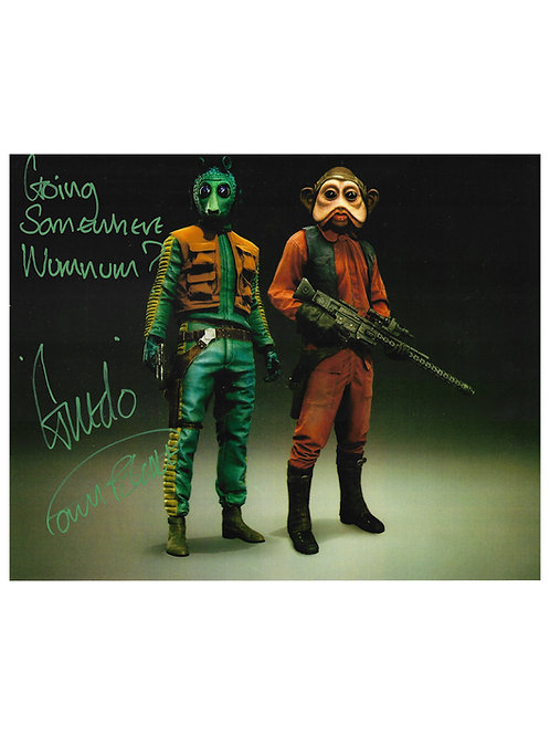 "10x8 Star Wars Greedo ""Wumnum"" Quote Print Signed by Paul Blake"