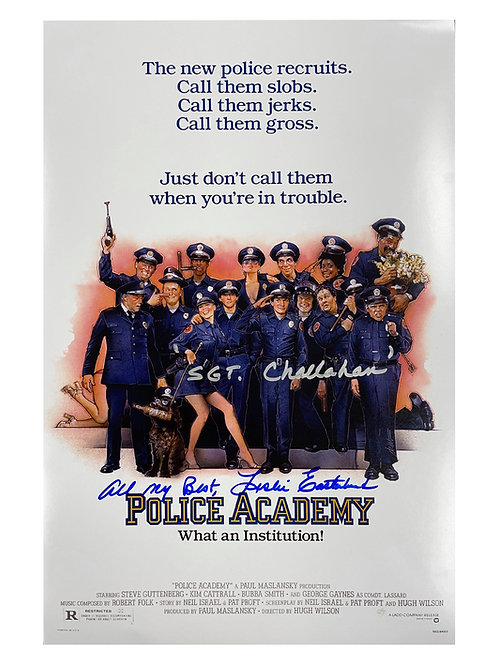 11x17 Police Academy Poster Signed by Leslie Easterbrook