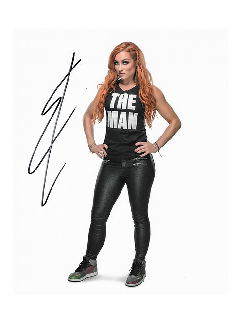 8x10 Print Signed by Wrestling Superstar Becky Lynch
