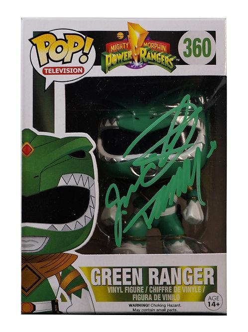 Green Power Ranger Packaged Funko Pop Figure Signed By Jason David Frank