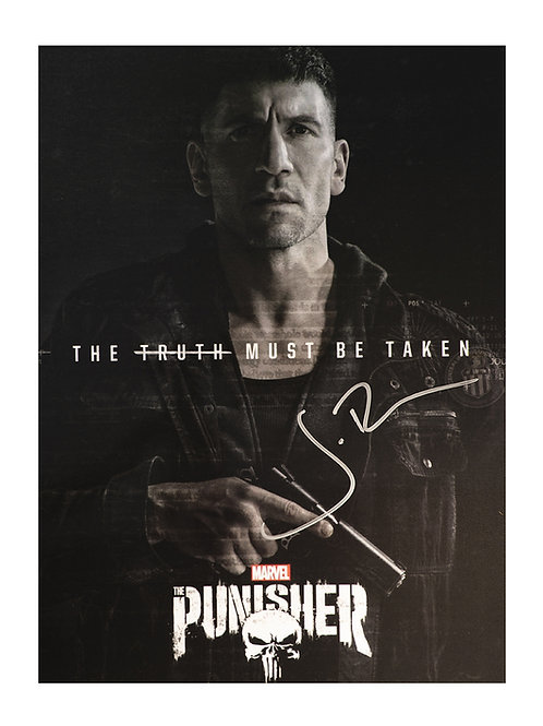 12x16 The Punisher Print Signed by Jon Bernthal