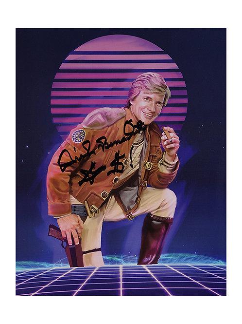 8x10 Battlestar Galactica Print Signed by Dirk Benedict