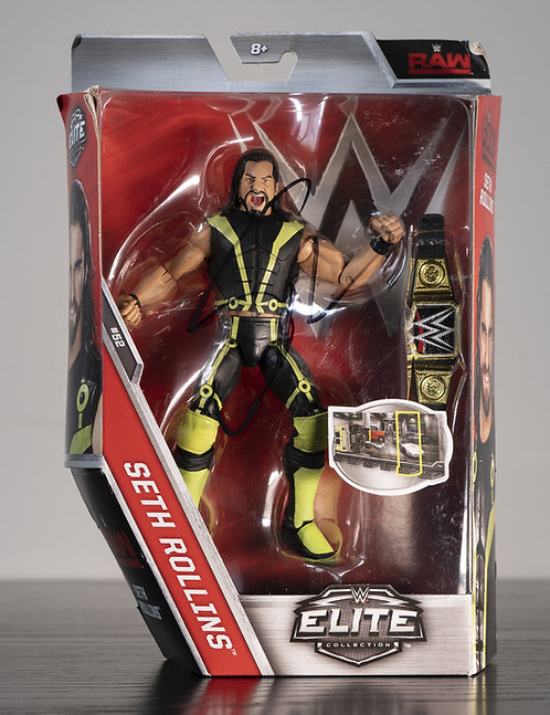 WWE Elite Collection Action Figure Signed by Wrestling Superstar Seth Rollins