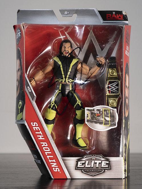 WWE Elite Collection Action Figure Signed by Wrestling Superstar Seth Rollins