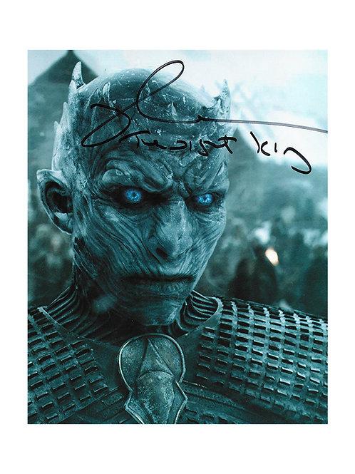 8x10 Game Of Thrones Night King Print Signed by Richard Brake