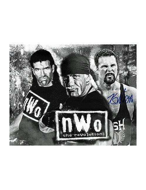 10x8 Print Signed by Wrestling Superstar Kevin Nash aka Diesel