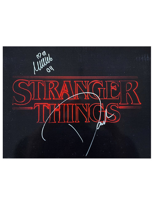16x12 Stranger Things Print Signed by Millie Bobby Brown & David Harbour