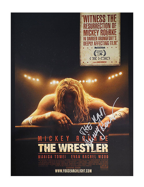 The Wrestler 12x16 Print Signed by Mickey Rourke