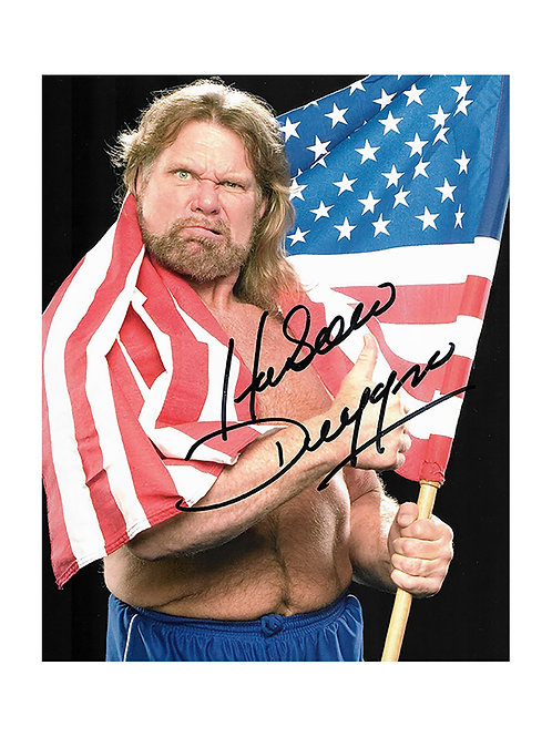 "8x10 Print Signed by Wrestling Superstar ""Hacksaw"" Jim Duggan"