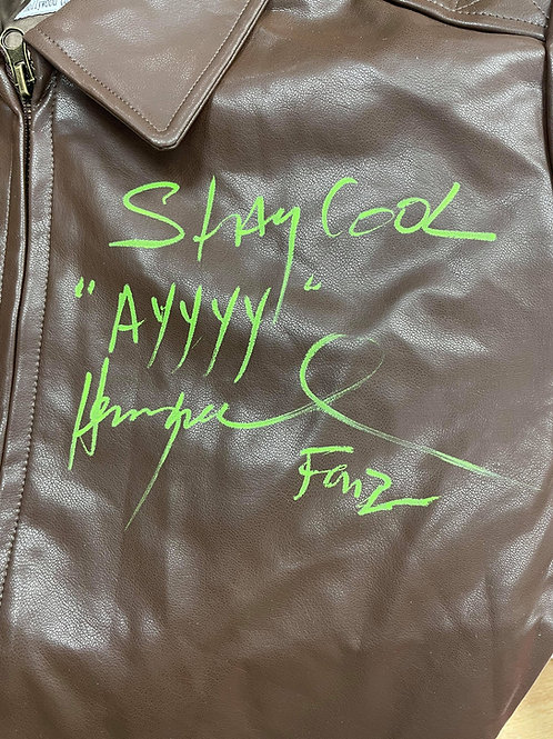 Stay Cool AYYYY Authentic Fonzie Leather Jacket Signed By Henry Winkler