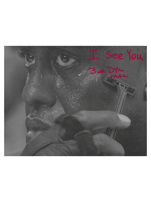 10x8 Predator Print With I See You Quote Signed by Bill Duke