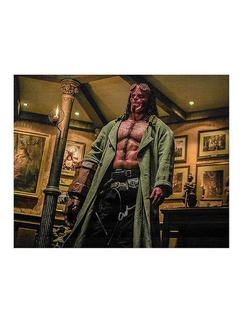 10x8 Hellboy Print Signed by David Harbour
