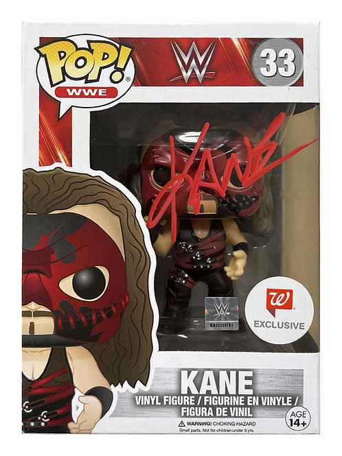 Kane Funko Pop Figure Signed by Wrestling Superstar Kane