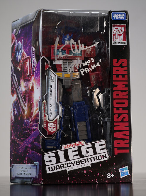 Transformers War For Cybertron Optimus Prime Figure Signed by Peter Cullen