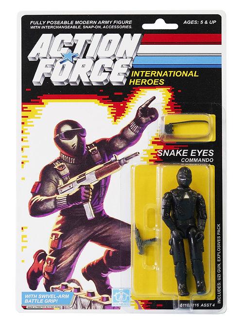 Action Force GI Joe Snake Eyes Commando MOC Carded Custom