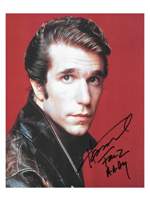 Collection of 8x10 Fonzie Prints With Different Quotes Signed By Henry
