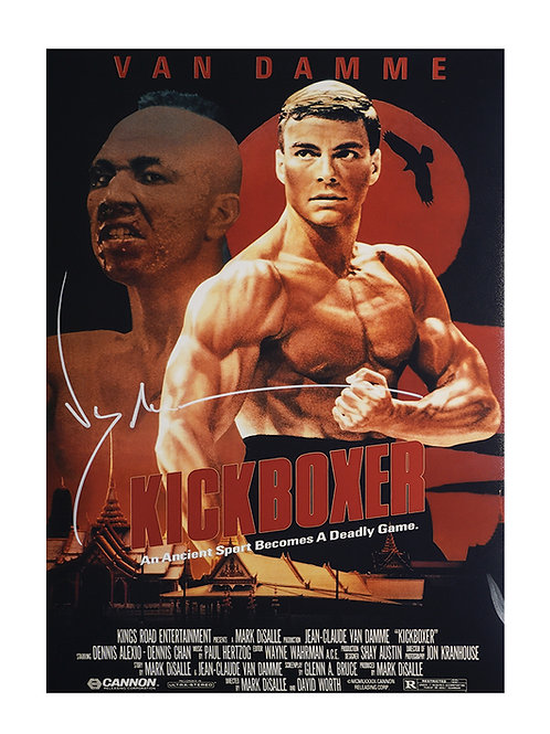 A3 Kickboxer Poster Signed by JCVD Jean-Claude Van Damme