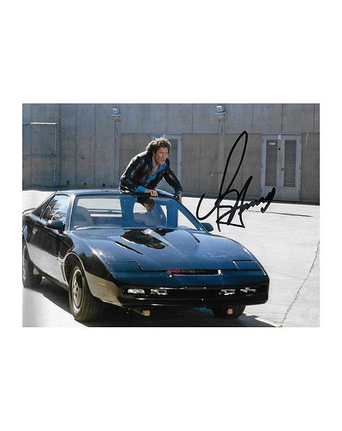 10x8 Knight Rider Print Signed by David Hasselhoff