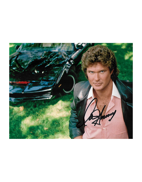 10x8 Knight Rider Print Signed by David Hasselhoff