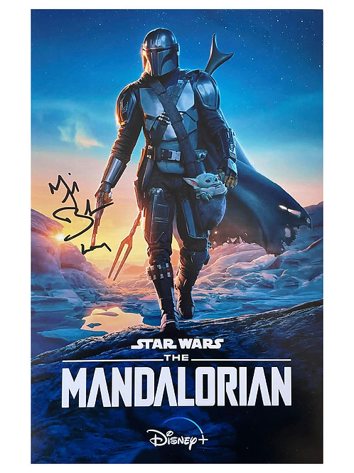 11x17 The Mandalorian Poster Signed by Michael Biehn