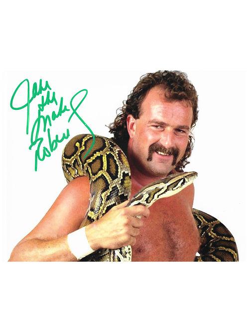 10x8 Print Signed by Wrestling Superstar Jake The Snake Roberts