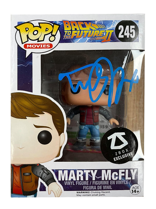 Back to the Future Funko Pop #245 Signed by Michael J Fox