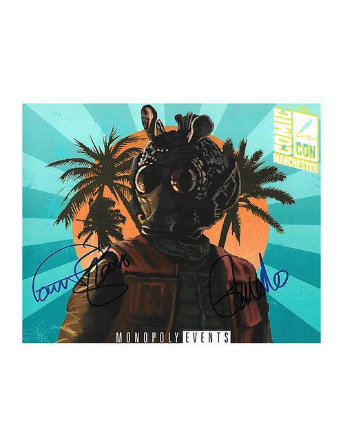 10x8 Star Wars Greedo Print Signed by Paul Blake