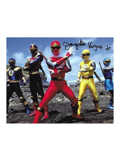 10x8 Power Rangers Ninja Storm Print Signed by Jorgito Vargas Jr.