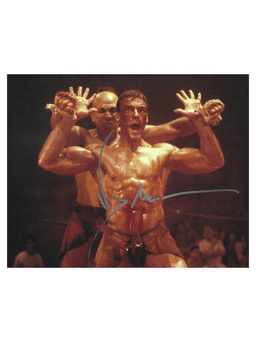 10x8 Kickboxer Print Signed in Silver by JCVD Jean-Claude Van Damme