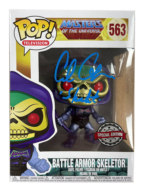 Special Edition Skeletor He-Man Funko Pop Figure Signed By Alan Oppenheimer