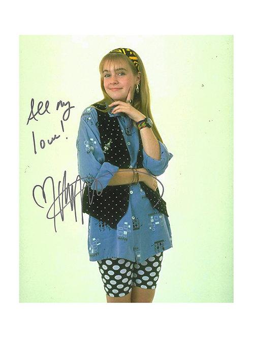 8x10 Clarissa Explains It All Print Signed By Melissa Joan Hart