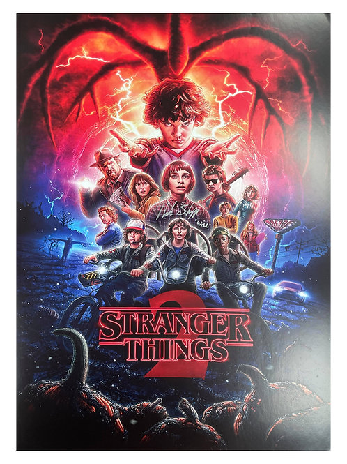 A2 Stranger Things S2 Poster Signed By Noah Schnapp