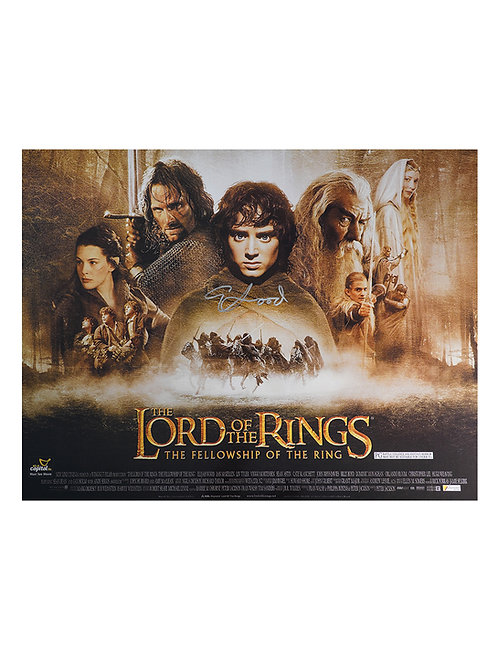 Lord Of The Rings 16x12 Print Signed By Elijah Wood