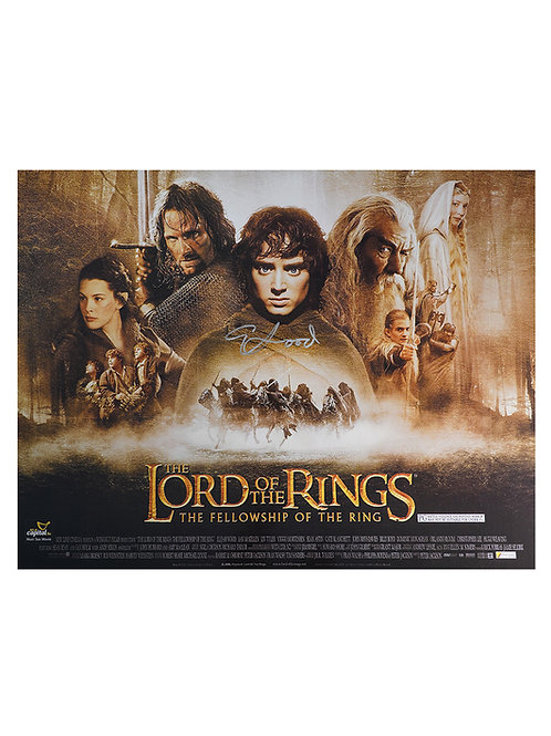16x12 Lord Of The Rings Print Signed By Elijah Wood