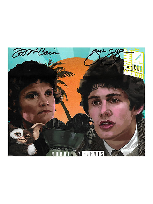 10x8 Gremlins Print Signed by Zach Galligan & Francis Lee McCain
