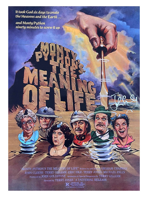 A3 Monty Python's Meaning of Life Poster Signed by John Cleese