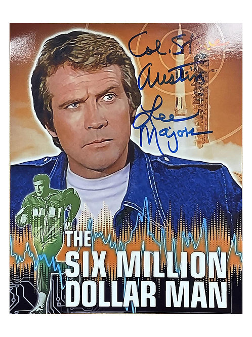 8x10 The Six Million Dollar Man Print Signed by Lee Majors