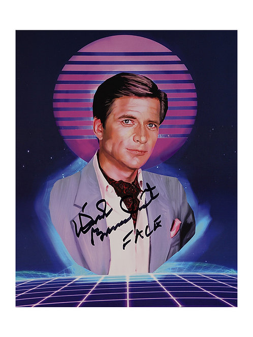 8x10 The A-Team Print Signed by Dirk Benedict