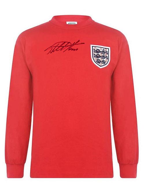 1966 World Cup Replica England Football Shirt Signed By Sir Geoff Hurst