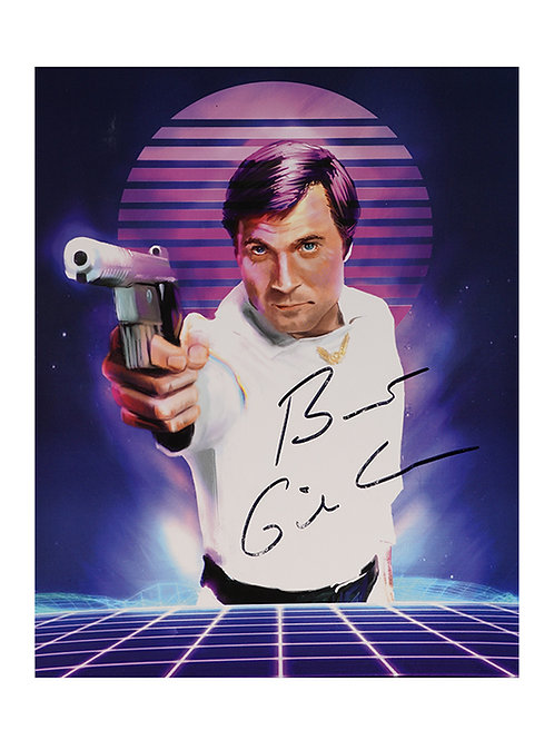8x10 Buck Rogers Print Signed by Gil Gerard