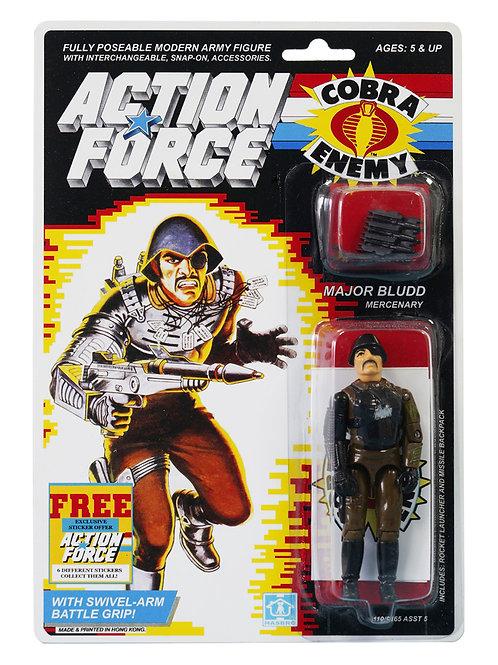 Action Force / GI Joe Major Bludd Mercenary MOC Custom With Sticker Offer