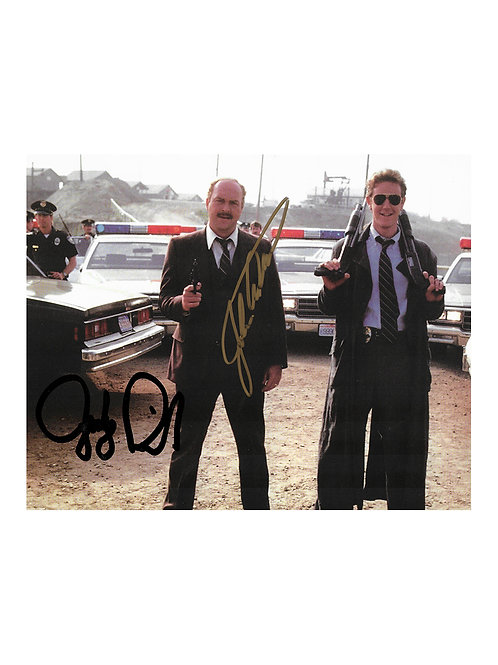 10x8 Beverly Hills Cop Print Signed by Judge Reinhold and John Ashton