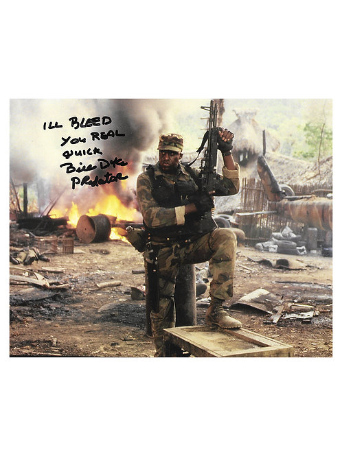 10x8 Predator Print With Bleed You Real Quick Quote Signed by Bill Duke