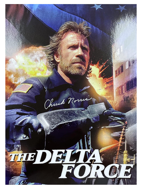 A3 The Delta Force Poster Signed by Chuck Norris