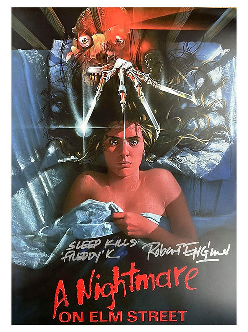 A3 Nightmare on Elm Street Poster Sleep Kills Quote Signed by Robert Englund